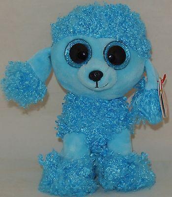 - MWMTs TY Beanie Boos MANDY the Blue Poodle Glitter Eyes Medium - 9 inch