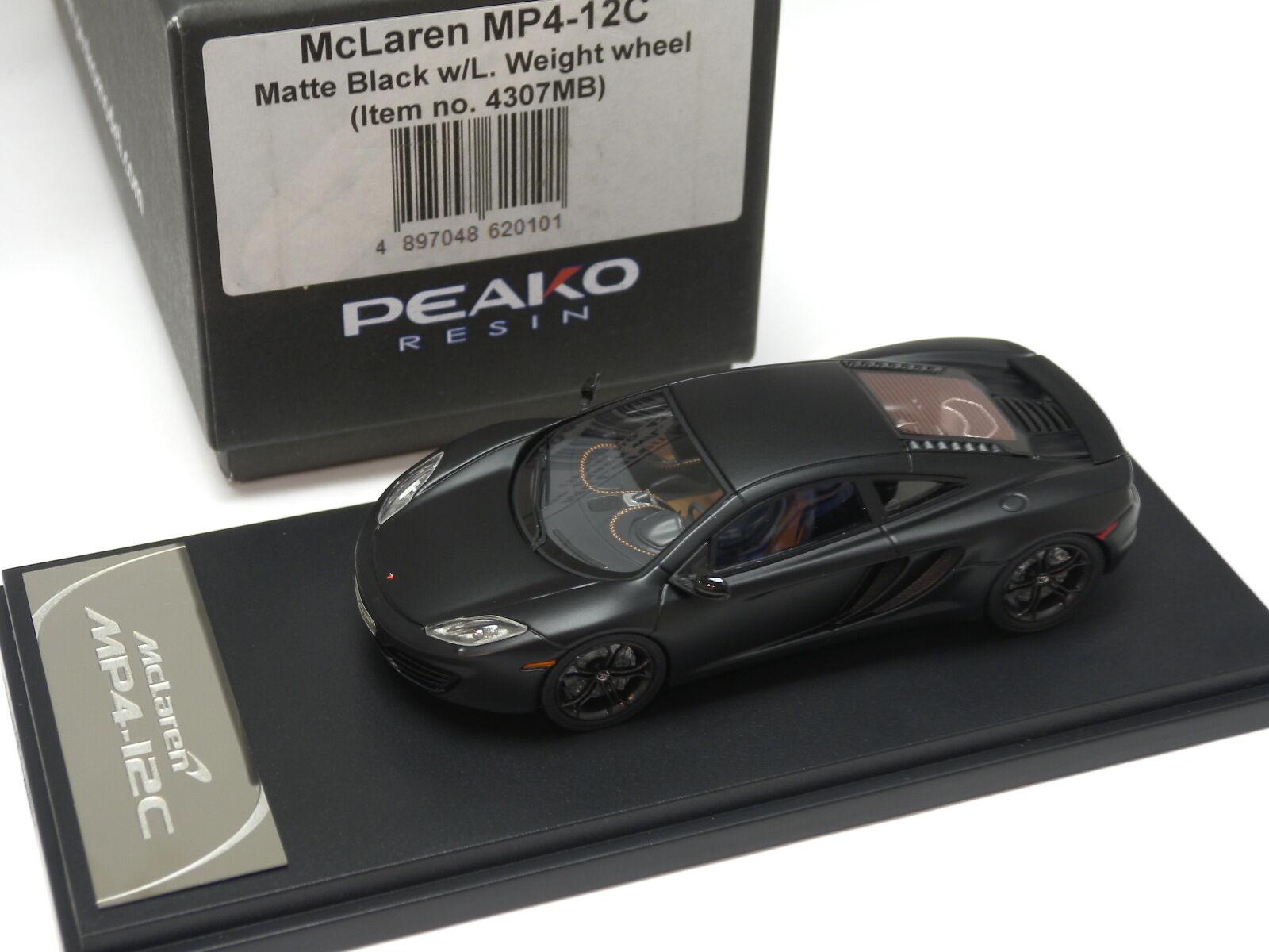 a la venta McLaren McLaren McLaren MP4-12C negro mate con los modelos de rueda Peako L. peso 1 43  4307MB  echa un vistazo a los más baratos