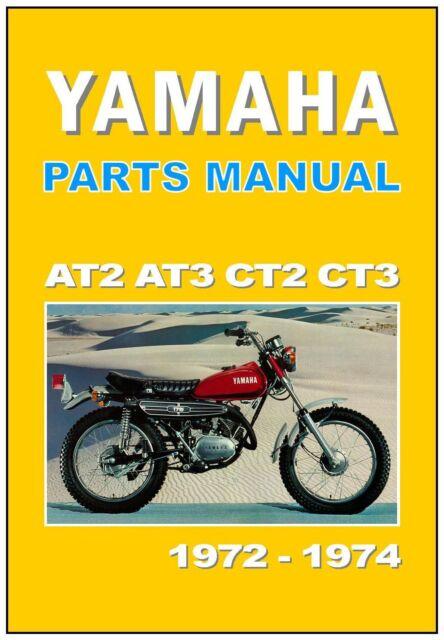 YAMAHA Parts Manual AT2 AT3 CT2 CT3 1972 and 1973  Replacement Spares Catalog