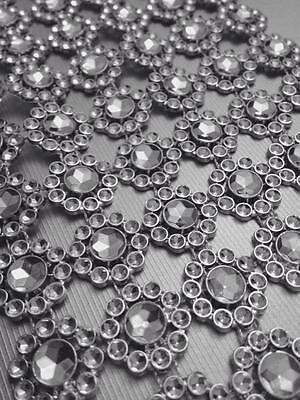Ambizioso Girasole Strass Bling Scintillante Effetto Diamante Torta Nuziale Craft Nastro Trim- Per Classificare Prima Tra Prodotti Simili