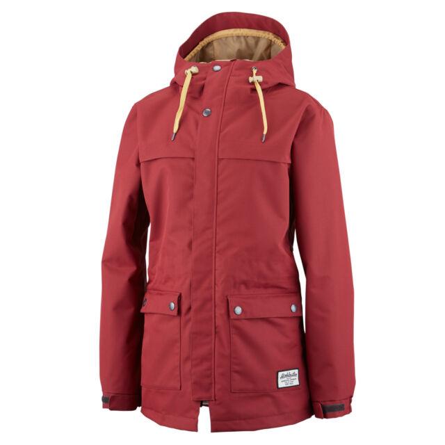 Airblaster Freedom Parka Womens Snowboard Jacket Oxblood L XL Red Ski