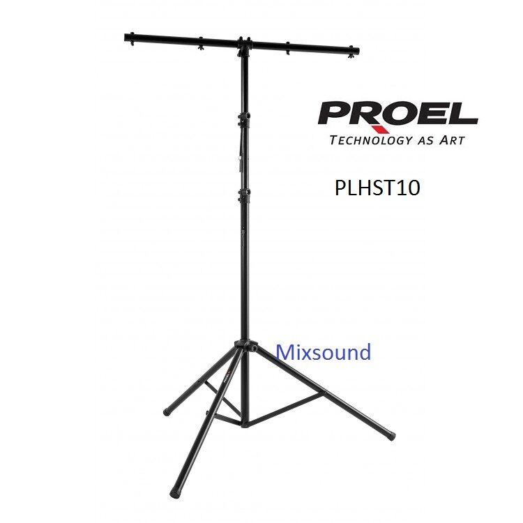 """PROEL PLHST10 ASTA supporto in alluminio per luci con barra a """"T"""" per max 8 FARI"""
