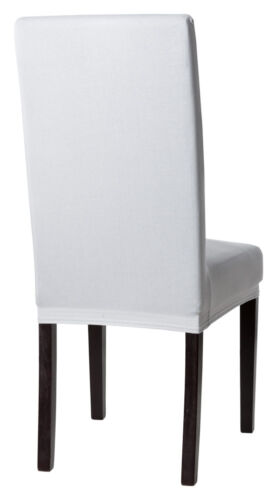 Stuhlhusse Stuhlüberzug Stuhlbezug Stretchhusse Husse elastisch silber