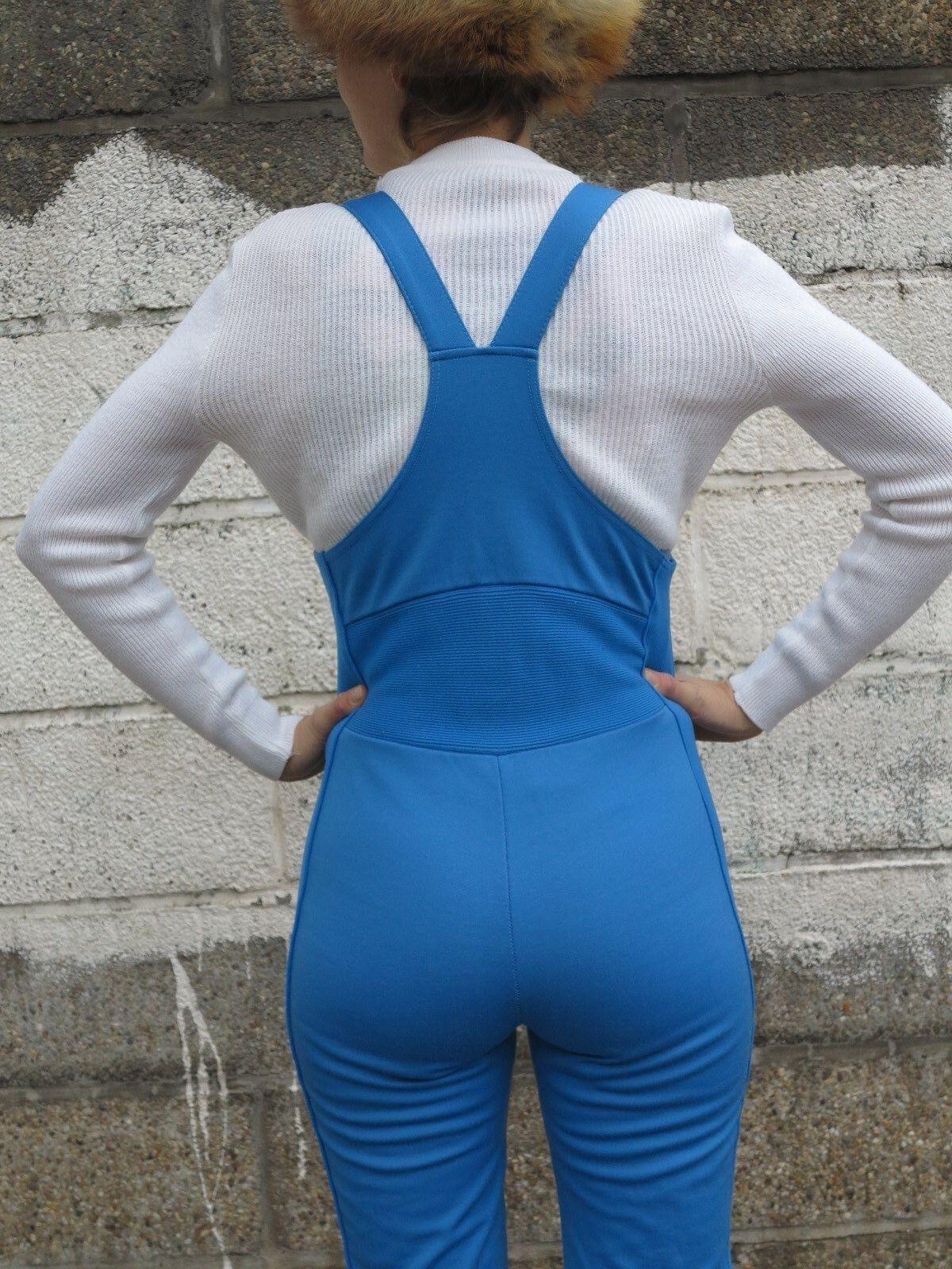 Adidas skihose 3 4 4 4 legs blau Latzhose skisuit 70er True VINTAGE 70s ski trousers  | Verkaufspreis  99e1f2
