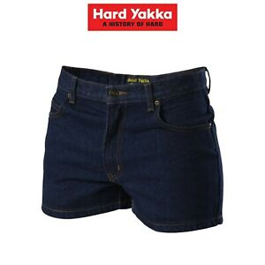 Mens-Hard-Yakka-Enzyme-Washed-Denim-Shorts-Workwear-Jeans-Classic-Work-Y05681