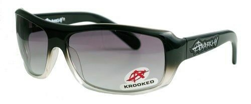 Anarchy Sunglasses Krooked Black to Clear new
