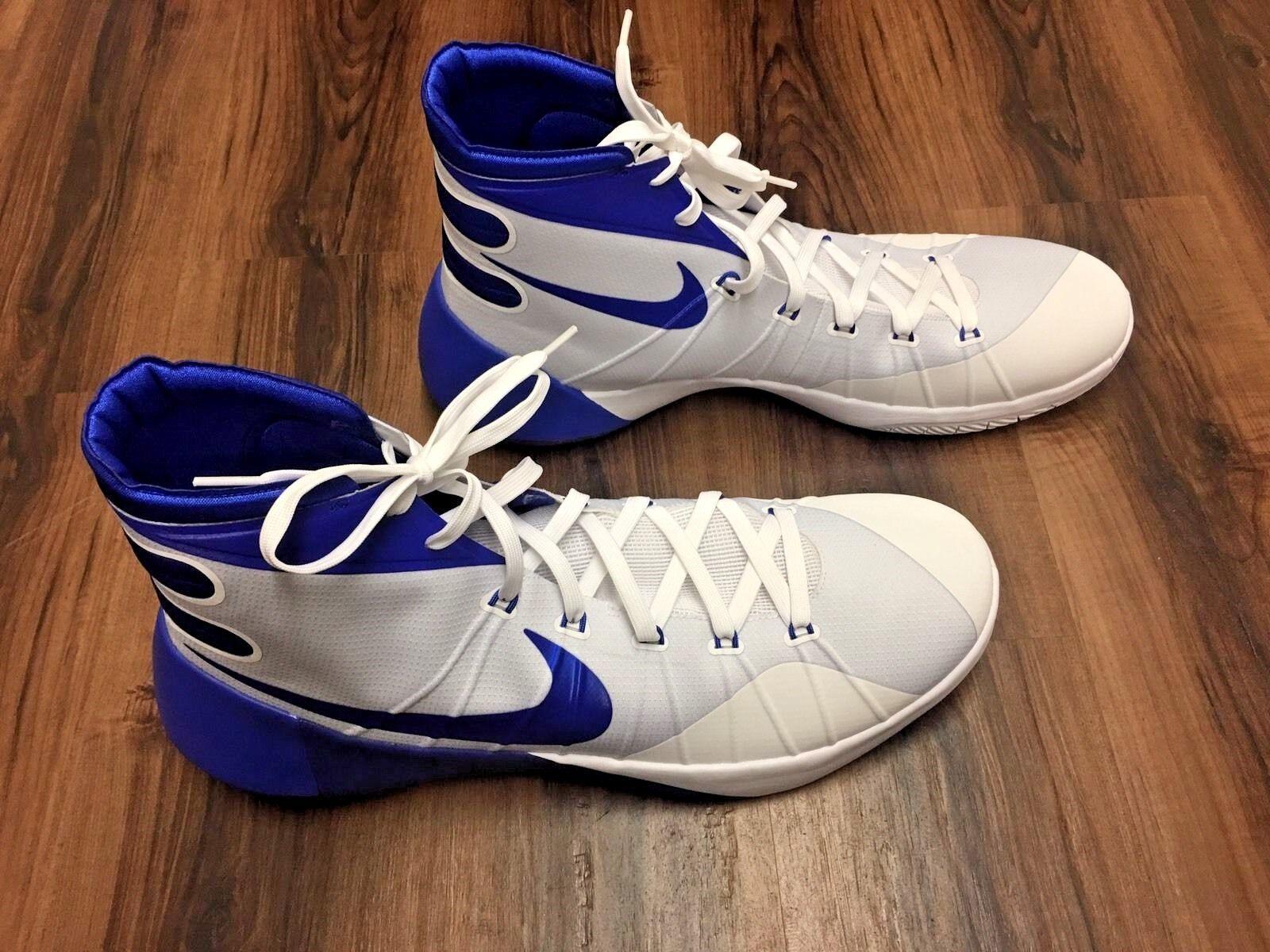 Nike hyperdunk 2015 uomini scarpe da basket bianco e blu sz nuovo di zecca