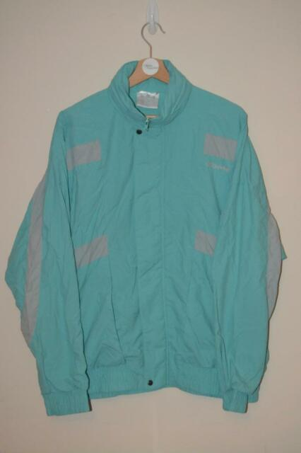 3e5349485f06 VINTAGE GREEN ADIDAS SHELLSUIT SKI STYLE TRACKSUIT JACKET COAT UK LARGE