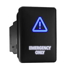 Emergency Only Bluewhite Backlit Short Push Button 128x 087 Fit Toyota