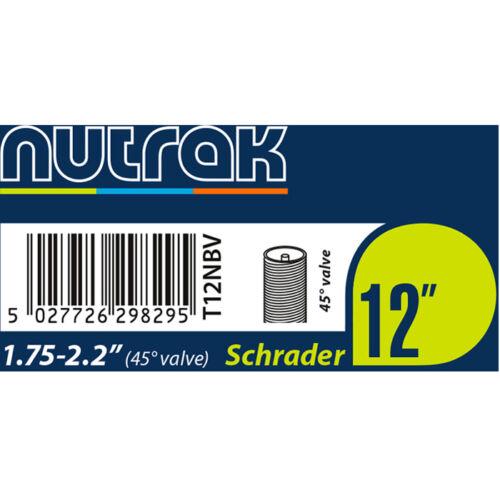 """45Deg Angled Schrader Valve 4x Bike//Buggy 12/"""" Nutrak Inner Tube 12 1//2 x 2 1//4"""