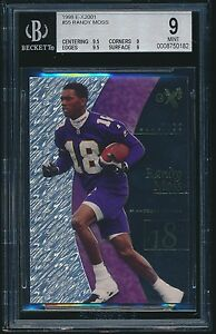 1998-E-X2001-rookie-55-Randy-Moss-rc-BGS-9-Mint