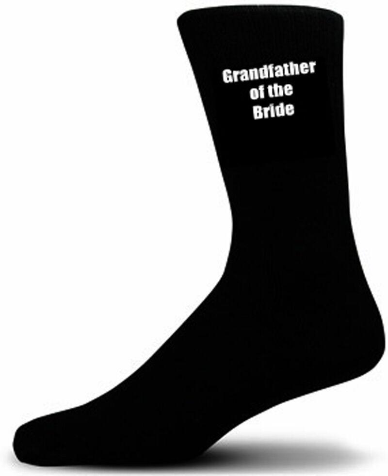 Grandfather of the Bride Wedding Socks - Black Cotton Rich Socks