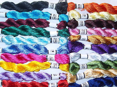 25 Metallic Hand Embroidery  Multi Coloured Skeins Great value High Quality