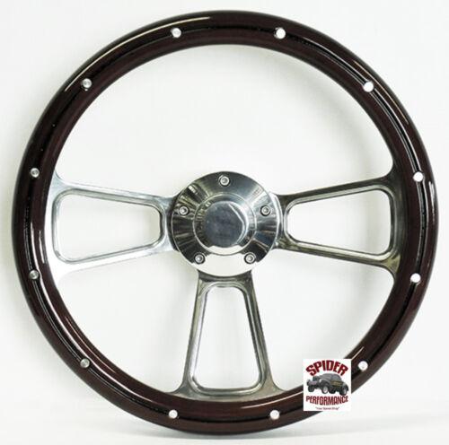 "1967-1968 EL Camino Chevelle steering wheel 14/"" MAHOGANY billet w//rivets"