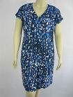 Autograph Ladies ES Contrast Cap Sleeve Dress sizes 14 18 20 22 24 26 Blue Print