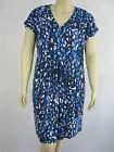 Autograph Ladies ES Contrast Cap Sleeve Dress sizes 14 18 20 22 24 26 Blue Print