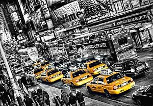 Wall Mural YELLOW TAXI CABS photo Wallpaper Large size wall art NEW