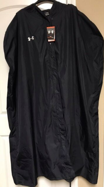 NWT Under Armour Black Fleece Lined Stadium Cape Poncho Rain Coat 1211060 3XL