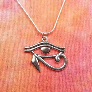 Details about Eye of Horus Necklace, Egypt Egyptian Wadjet Udjat Hathor Ra  Charm Pendant Gift