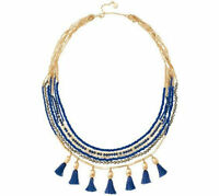 Fashion Vintage Gold Plated Tulum Tassels 4 in 1 Dot Necklace
