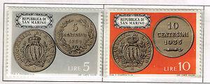 San Marino Coins stamps 1972 MNH