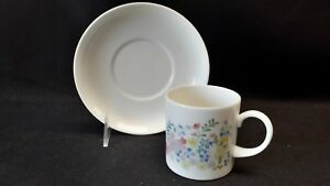 Wedgwood-England-Bone-China-Forget-Me-Not-Demitasse-Cup-amp-Saucer