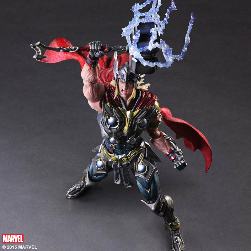 Thor Play Arts Kai Official Merchandise Brand New Sealed Marvel Avengers