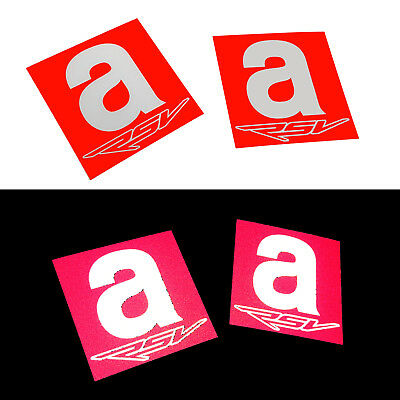 Aprilia A RACING Motorcycle graphics stickers decals 80mm x 2PCS Red /& white