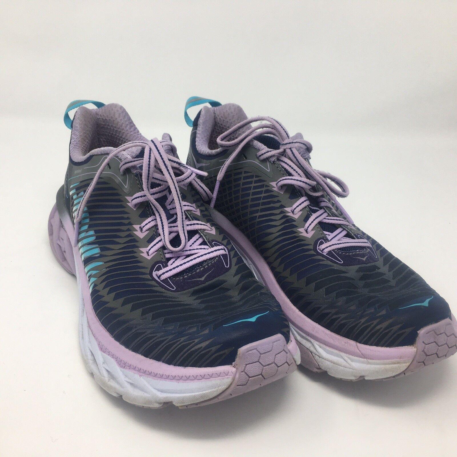 HOKA One 8.5 One Damenschuhe Schuhes Größe 8.5 One Purple Blau Weiß Running Arahi 763df3