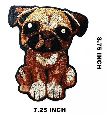 Sequin Patch Large Pug Head