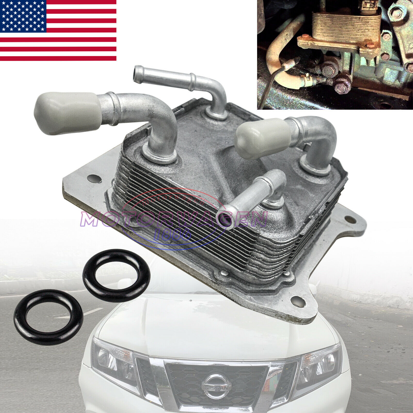 21606-28X0B XtremeAmazing Transmission Oil Cooler with O-rings for 2013-2017