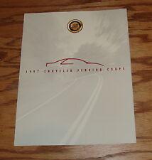 Original 1997 Chrysler Sebring Coupe Foldout Sales Brochure 97
