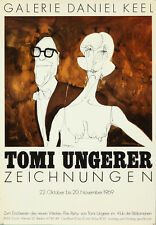 Original Vintage Poster Tomi Ungerer Exhibition German Cartoon Sexploitation 60s