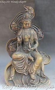 16-034-Chinese-Bronze-Seat-Buddha-Kwan-yin-Guan-Yin-Goddess-Bodhisattva-Statue
