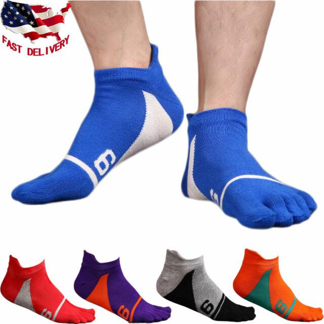 5 Pairs Men/'s Sport Sock Five Toe Finger Ankle Socks Low Cut Cotton Casual Socks