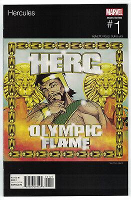 Hercules #1 Theotis Jones Hip Hop Olympic Flame Variant Marvel 2015
