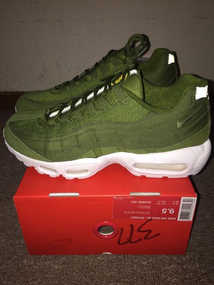 online store 40dbf 485c2 chic Nike x Stussy Air Max 95 Dark Olive Style   834668-337 Size 9.5