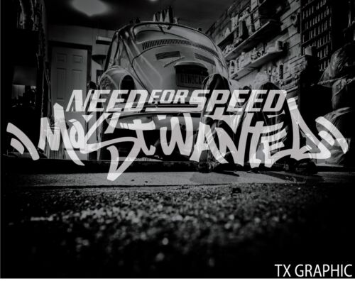 NEED FOR SPEED MOST WANTED VINYL STICKER DECAL #2