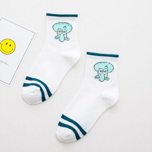 Cartoon Socks Cute Women Men Cotton Animals Character Casual Short Socks