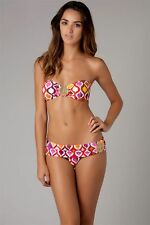 NWT Ret. $100 TRINA TURK   Bandeau Top   SIZE 2   OGEE RED   TOP ONLY