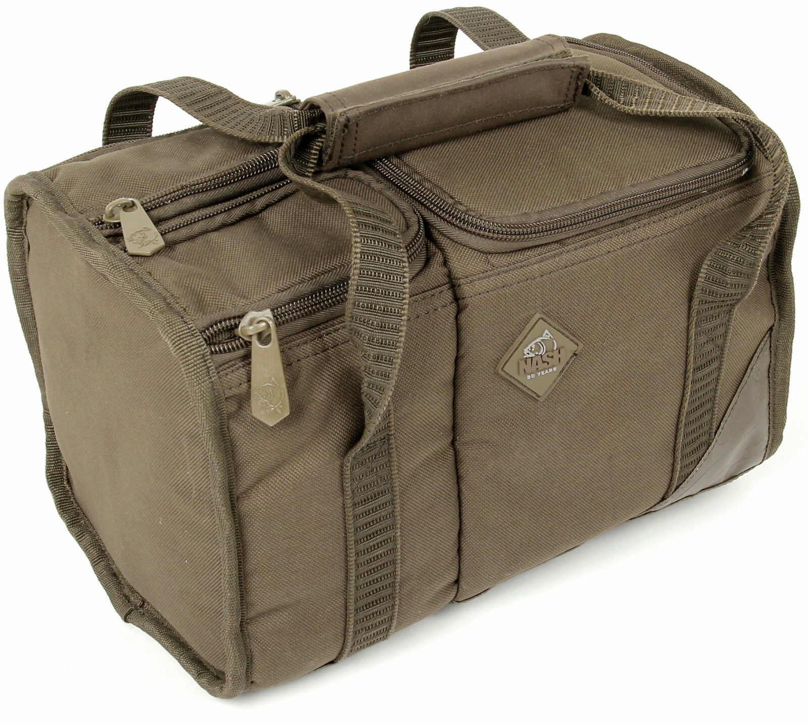 Nash Green Thermal Insulated Brew Kit Bag w  Suede Carry Handles Carp Fishing