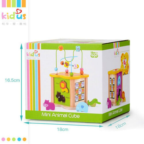 1-3 Years Kid/'s Music Brain Puzzle Activity Cube Beaded Educate Wooden Toys PF