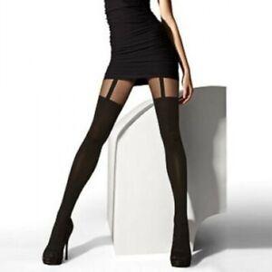 Fashion-Women-Girl-Punk-Gothic-Stockings-Black-Vertical-Stripe-Tights-Pantyhose