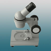 Monocular Stereo Microscope With 20x Up-right Image 2x Objecitive Small Size