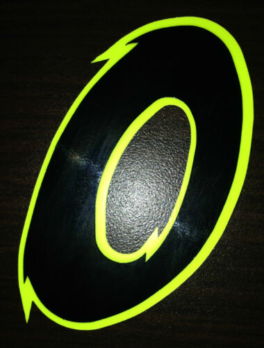 x1 Digit Race Numbers vinyl stickers Style 2 Black//Fluorescent Yellow Decals