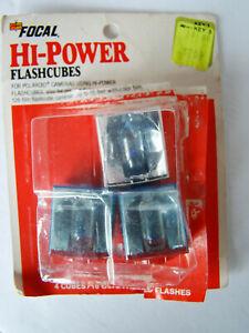 Focal Hi-Power Flashcubes Lot of 3 Flashbulbs - 12 Flashes