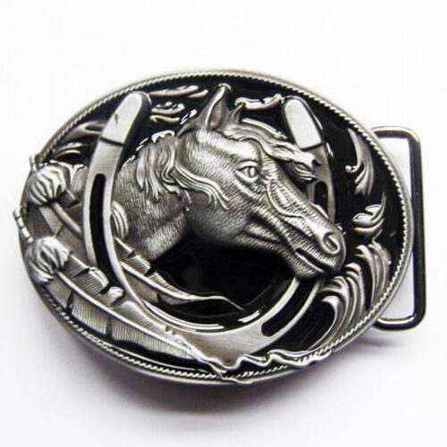 Buckle Pferd Pony Indianerfeder /& Hufeisen Gürtelschnalle Western