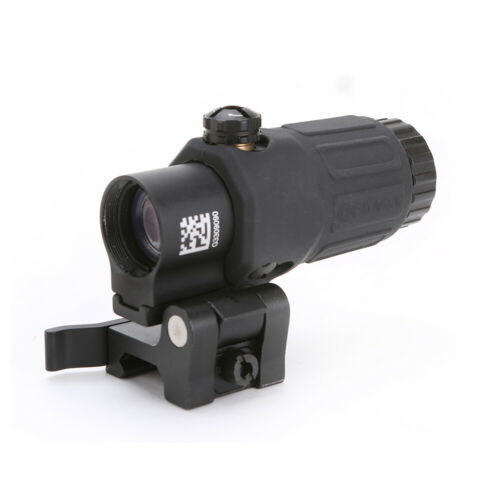Airsoft 3X Magnifier with Switch to Side Quick Detachable QD Mount W// 58 red dot