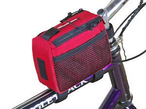 Bushwhacker Laredo Red Frame Bike Bag Top Tube Cycling Bag Bicycle Triangle Pack