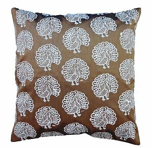 Superbe Image Is Loading 60x60 Cm Decorative Cushion Cover Peacock Pillow Cover